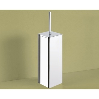 Toilet Brush Square Polished Chrome Toilet Brush Holder Gedy 6933-13