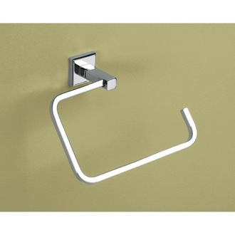 Towel Ring Polished Chrome Square Towel Ring Gedy 6970-13
