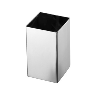 Toothbrush Holder Square Polished Chrome Toothbrush Holder Gedy NE98-13