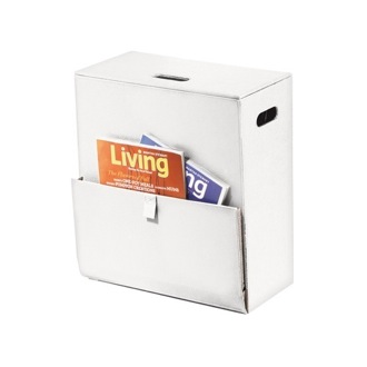 Laundry Basket Rectangular Laundry Basket with Magazine Holder in Assorted Colors Gedy 1536