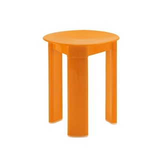 Bathroom Stool Orange Round Stool Made From Thermoplastic Resins Gedy 2072-67