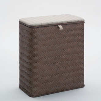 Laundry Basket Rectangle Wenge Laundry Basket Gedy 2239-19