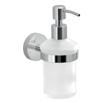 Soap Dispenser Frosted Glass Soap Dispenser With Wall Mount Gedy 2381-13