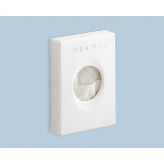 Paper Towel Dispenser Wall Mounted Sanitary Towel Holder in White Gedy 2430