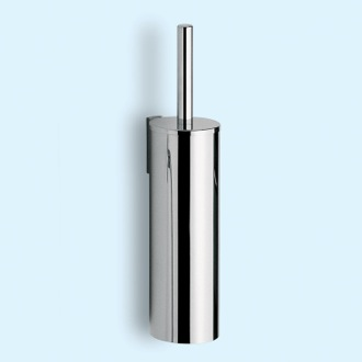 Toilet Brush Cylindric Chrome Wall Mounted Toilet Brush Holder Gedy 2433-03-13