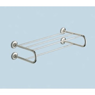 Train Rack Polished Chrome Towel Shelf With Towel Bar Gedy 2435-13