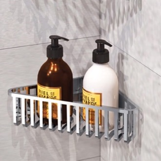 Shower Basket Chrome Corner Shower Basket Gedy 2478-13