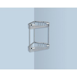 Shower Basket Wire Corner Double Shower Basket Gedy 2481
