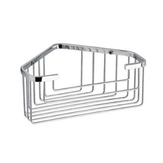 Shower Basket Chrome Wire Corner Shower Basket Gedy 2483