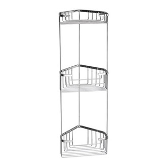 Shower Basket Wire Corner Triple Shower Basket Gedy 2484