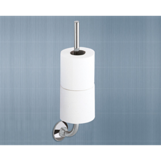 Toilet Paper Holder Chrome Toilet Paper and Spare Roll Holder Gedy 2724-03-13