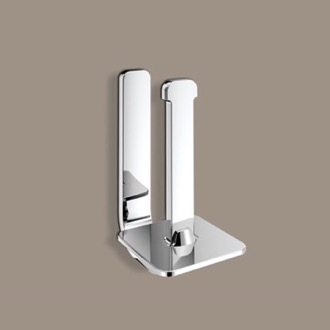 Toilet Paper Holder Polished Chrome Vertical Toilet Paper Holder Gedy 3224-02-13