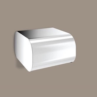 Toilet Paper Holder Round Chrome Toilet Paper Dispenser With Cover Gedy 3225-13
