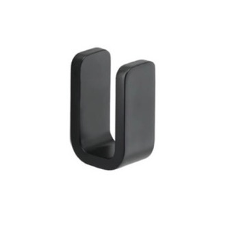 Bathroom Hook Matte Black Single Robe Hook Gedy 3226-14