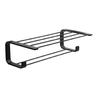 Train Rack Modern Matte Black Towel Rack Gedy 3235-14