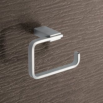 Toilet Paper Holder Square Brass Toilet Paper Holder In Polished Chrome Gedy 3824-13