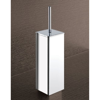 Toilet Brush Square Chrome Toilet Brush Holder Gedy 3833-13