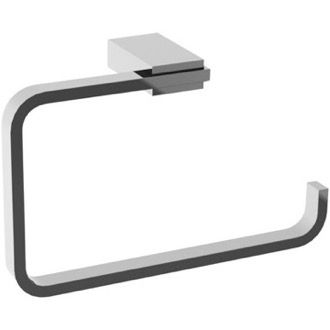 Towel Ring Square Polished Chrome Towel Ring Gedy 3870-13