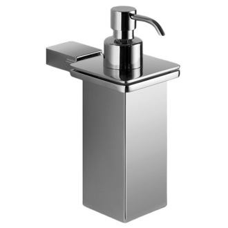 Soap Dispenser Wall Mounted Square Polished Chrome Soap Dispenser Gedy 3881-01-13