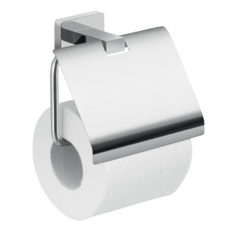 Toilet Paper Holder Wall Mounted Chrome Toilet Paper Holder With Cover Gedy 4425-13