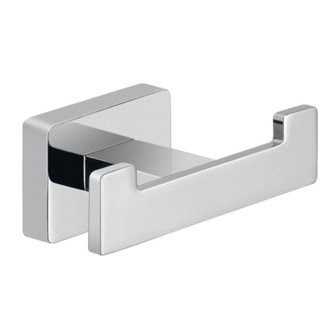 Bathroom Hook Square Chrome Wall Mounted Double Hook Gedy 4426-13