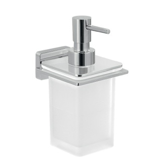 Soap Dispenser Glass Soap Dispenser With Chrome Wall Mounted Holder Gedy 4481-13