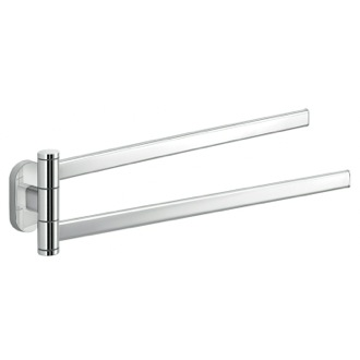 Polished Chrome Dual Swivel Towel Bar