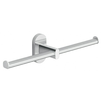 Toilet Paper Holder Wall Mounted Chrome Double Toilet Paper Holder Gedy 5329-13