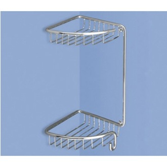 Shower Basket Wire Corner Double Shower Basket Gedy 5681