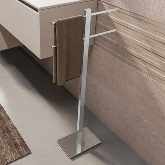 Towel Stand Chrome Towel Stand With 2 Sliding Rails Gedy 7131-13