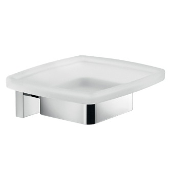 Soap Dish Wall Mounted Frosted Glass Soap Dish With Chrome Mounting Gedy A011-13