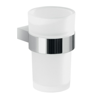 Toothbrush Holder Wall Mount Frosted Glass Toothbrush Holder With Chrome Mounting Gedy A210-13