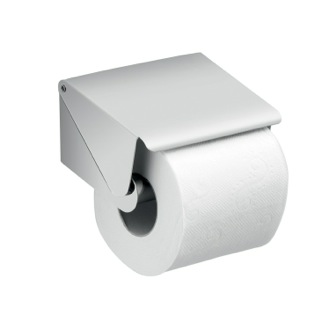 Toilet Paper Holder Chrome Square Toilet Paper Roll Holder with Cover Gedy A225-01-13