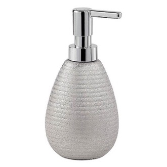 Soap Dispenser Silver Finish Soap Dispenser Made From Pottery Gedy AD80-73