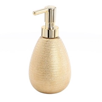 Soap Dispenser Gold Finish Soap Dispenser Made From Pottery Gedy AD80-87