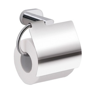 Toilet Paper Holder Chrome Wall Mounted Toilet Paper Holder with Cover Gedy BE25-13