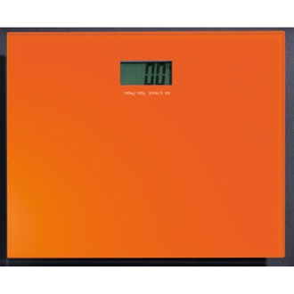 Scale Square Orange Electronic Bathroom Scale Gedy RA90-67