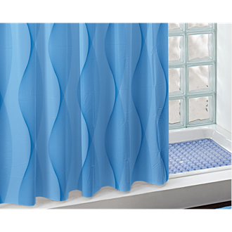 Shower Curtain 80x94 Blue Shower Curtain Gedy CO224-214