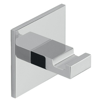 Bathroom Hook Adhesive Mounted Square Polished Chrome Aluminum Hook Gedy D127