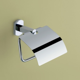 Toilet Paper Holder Polished Chrome Toilet Roll Holder With Cover Gedy ED25-13