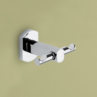 Bathroom Hook Polished Chrome Double Hook Gedy ED26-13