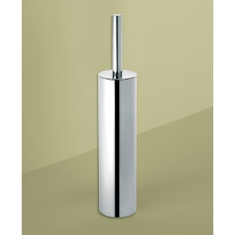 Toilet Brush Round Polished Chrome Toilet Brush Holder Gedy ED34-13