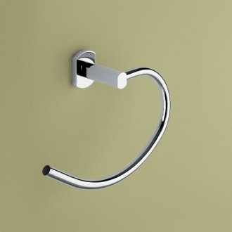 Towel Ring Polished Chrome Curved Towel Ring Gedy ED70-13