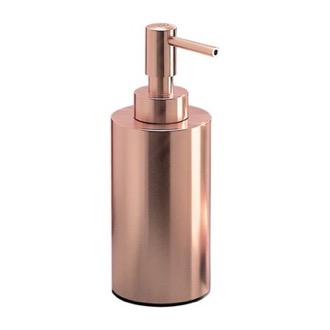 Soap Dispenser Rose Gold Finish Free Standing Soap Dispenser Gedy EE80-15