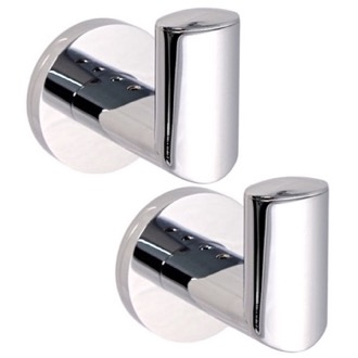 Bathroom Hook Pair Of Polished Chrome Hook(s) Gedy 5127-13