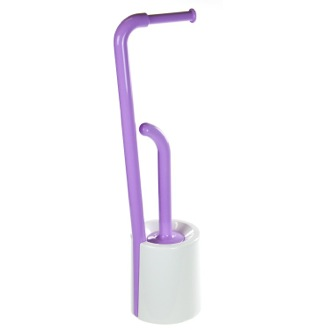 Bathroom Butler White and Lilac Bathroom Butler in Thermoplastic Resins Gedy 7032-49