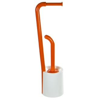 Bathroom Butler Orange and White Round Bathroom Butler Gedy 7032-93