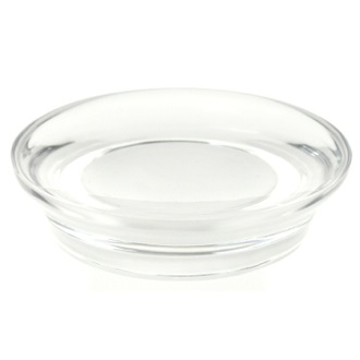 Soap Dish Round Soap Dish Made From Thermoplastic Resins in Transparent Finish Gedy AU11-00