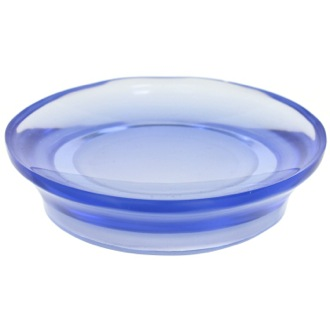 Soap Dish Round Soap Dish Made From Thermoplastic Resins in Blue Finish Gedy AU11-05