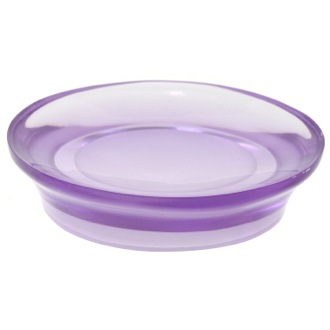 Soap Dish Round Soap Dish Made From Thermoplastic Resins in Purple Finish Gedy AU11-63